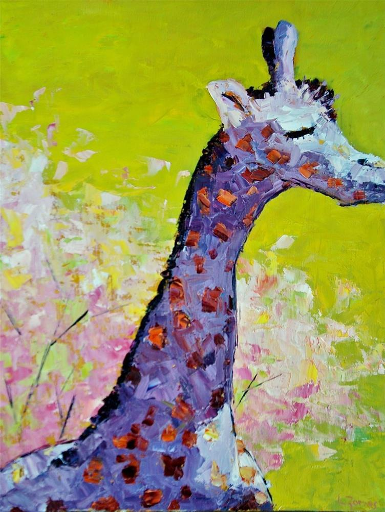 """Serengeti Giraffe"" original fine art by Liz Zornes"