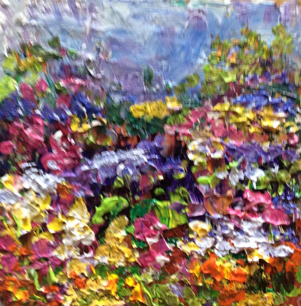 """Flower field"" original fine art by Sonia von Walter"