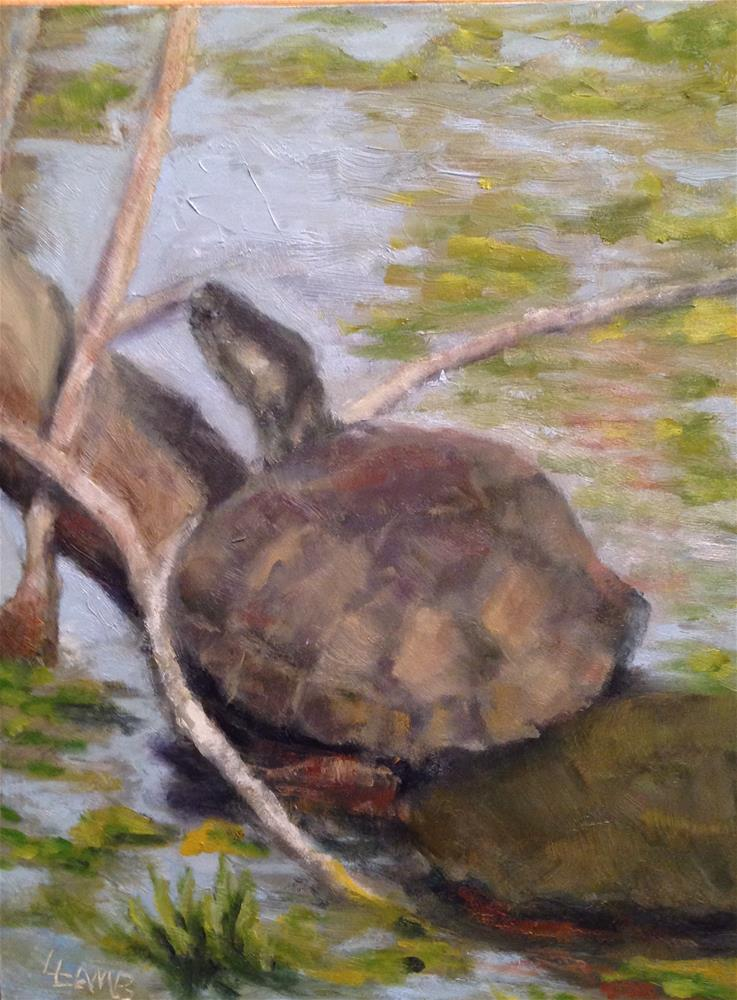 """Turtles"" original fine art by Lori L. Lamb"
