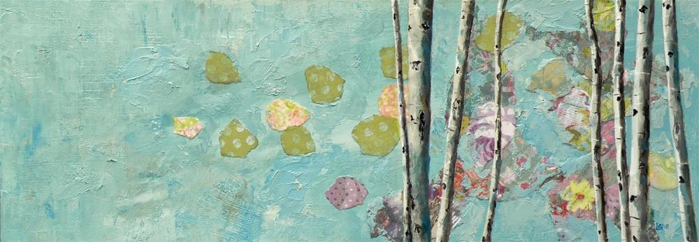 """ASPEN DREAMS ORIGINAL MIXED MEDIA ASPEN © SAUNDRA LANE GALLOWAY"" original fine art by Saundra Lane Galloway"