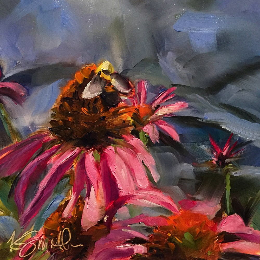"""coneflower"" original fine art by Kim Smith"
