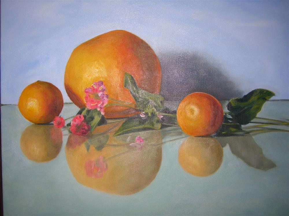 """Citrus with Lantana"" original fine art by Kathy Broyles"