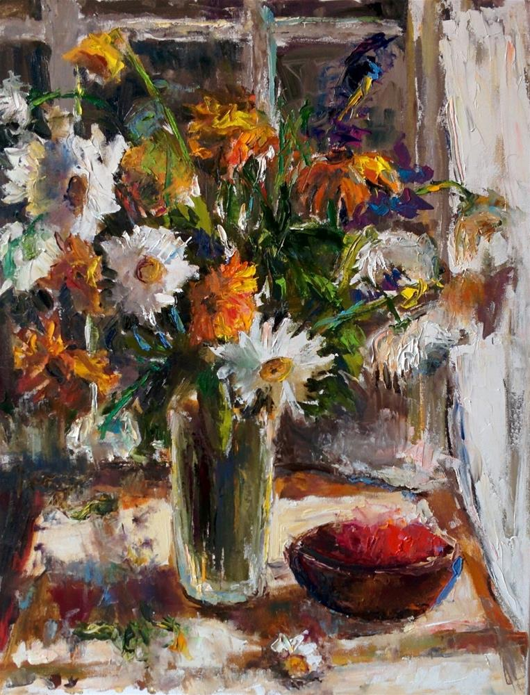 """Bouquet by the Window"" original fine art by pepa sand"