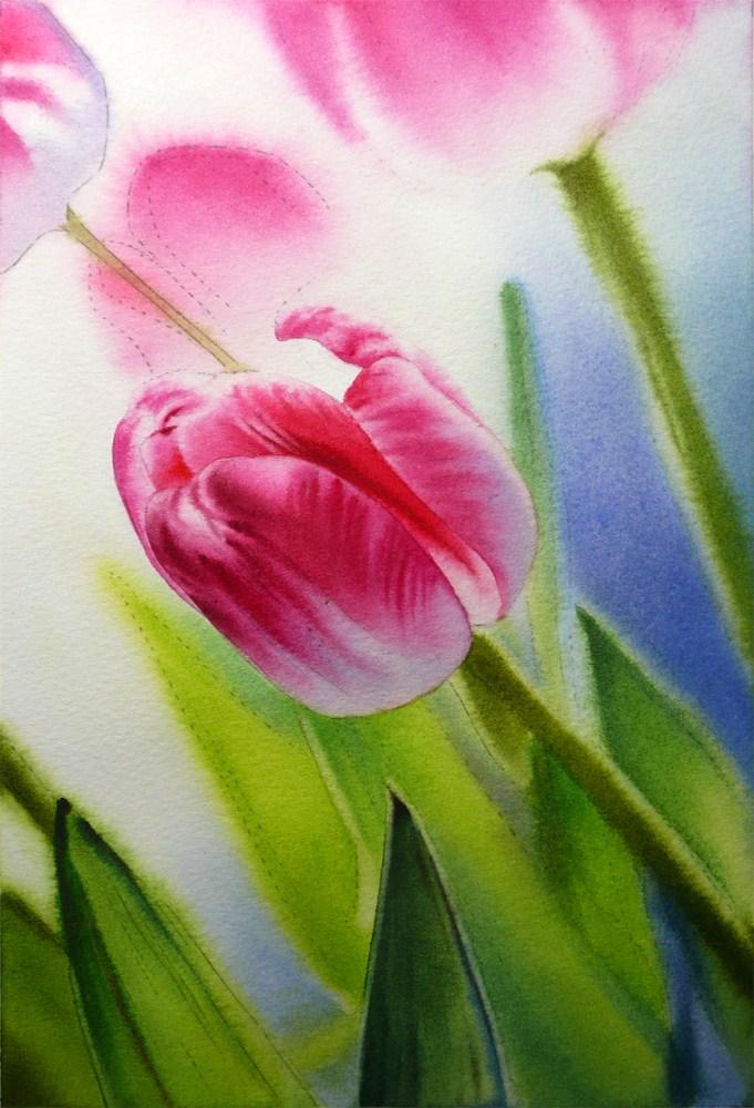 """Dancing Tulip IV"" original fine art by Arena Shawn"