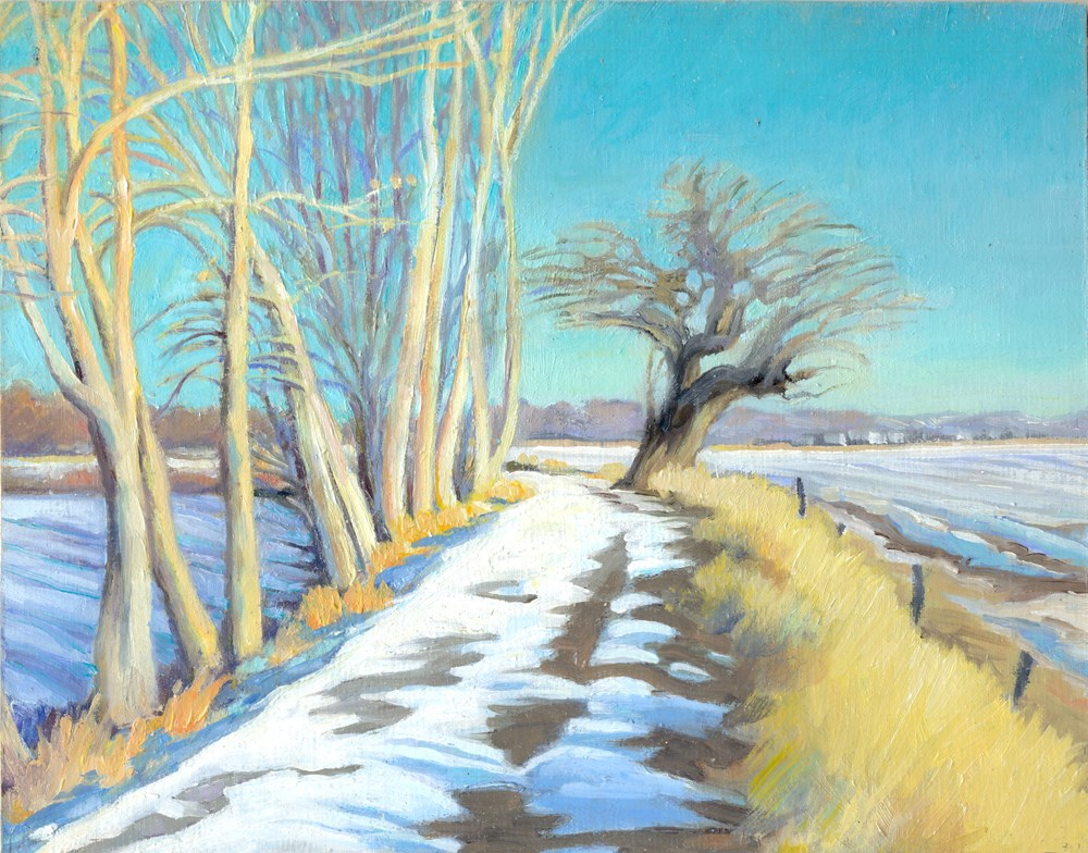 """Pella Path Looking East"" original fine art by Kath Reilly"