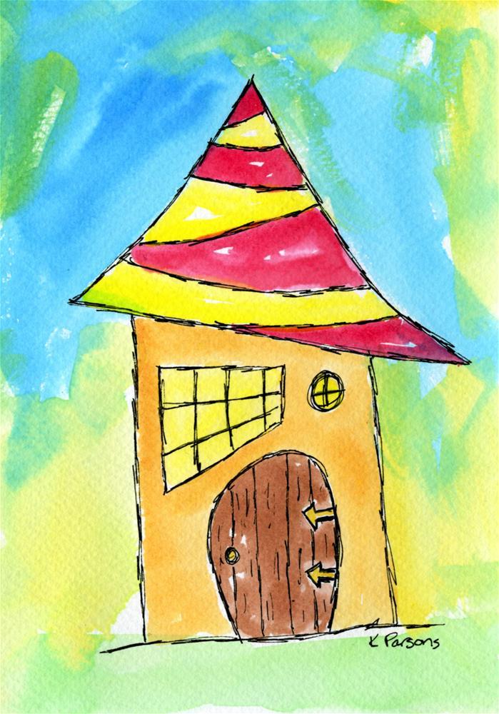 """Modern Gnome Abode"" original fine art by Kali Parsons"