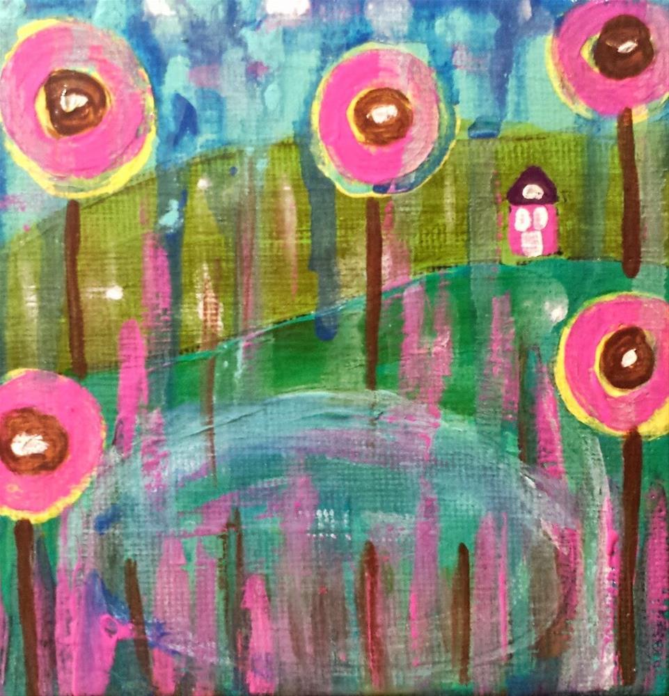 """Rain 5 House # 50"" original fine art by Christy Tremblay"