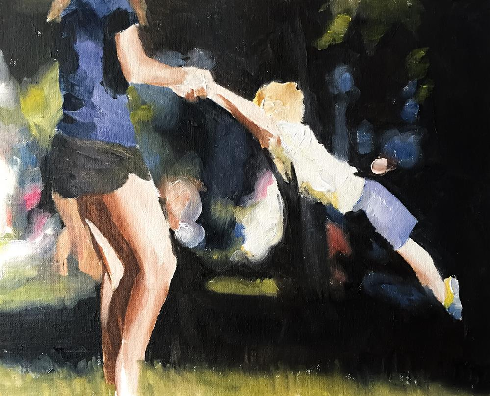 """Park Fun"" original fine art by James Coates"