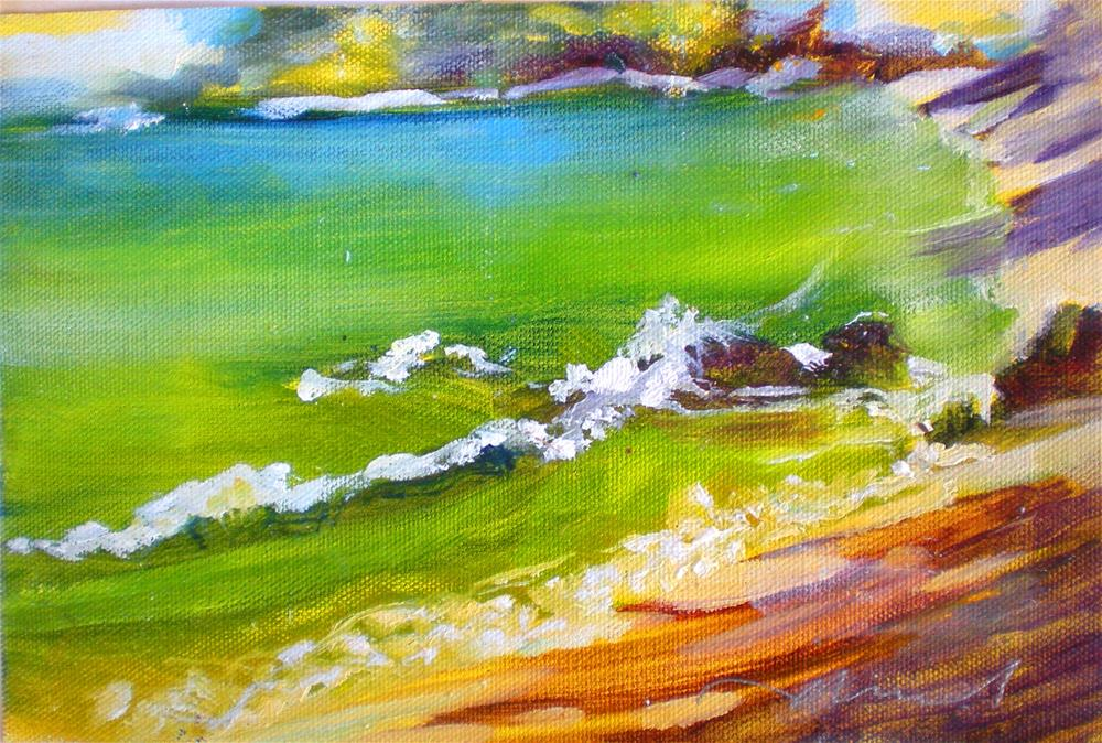 """Magoons' Quiet Shore - 150102s"" original fine art by richard rochkovsky"