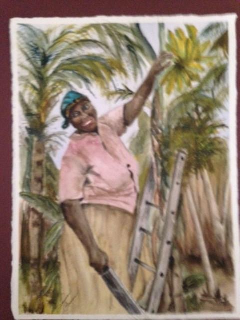 """Bananas Anyone?"" original fine art by Susan Brens"