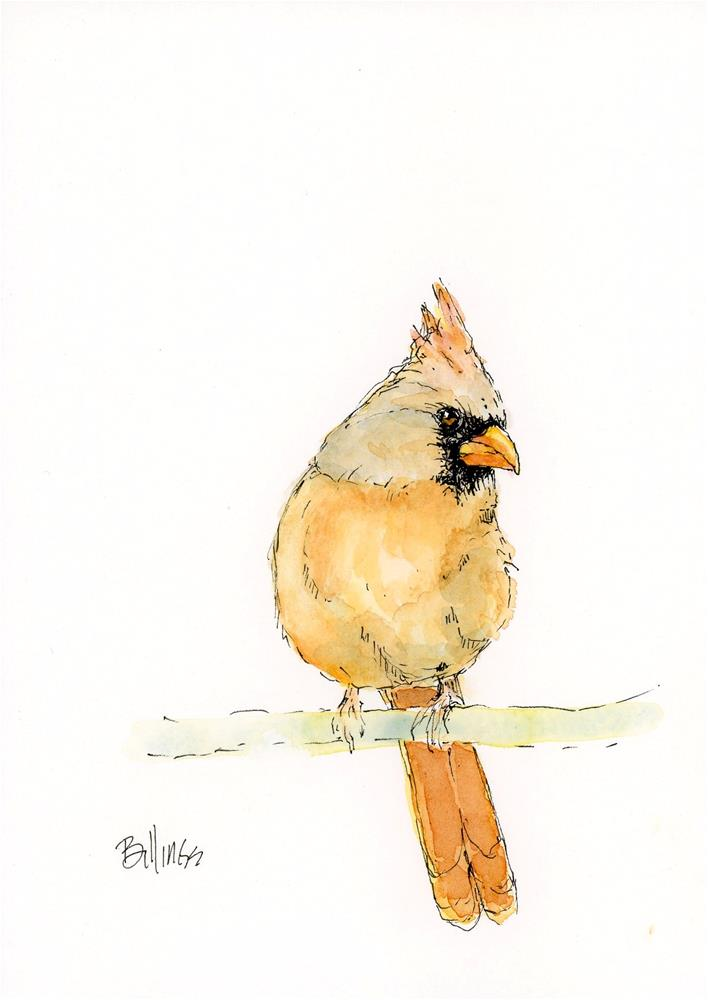 """Cardinal Rule I"" original fine art by Susanne Billings"