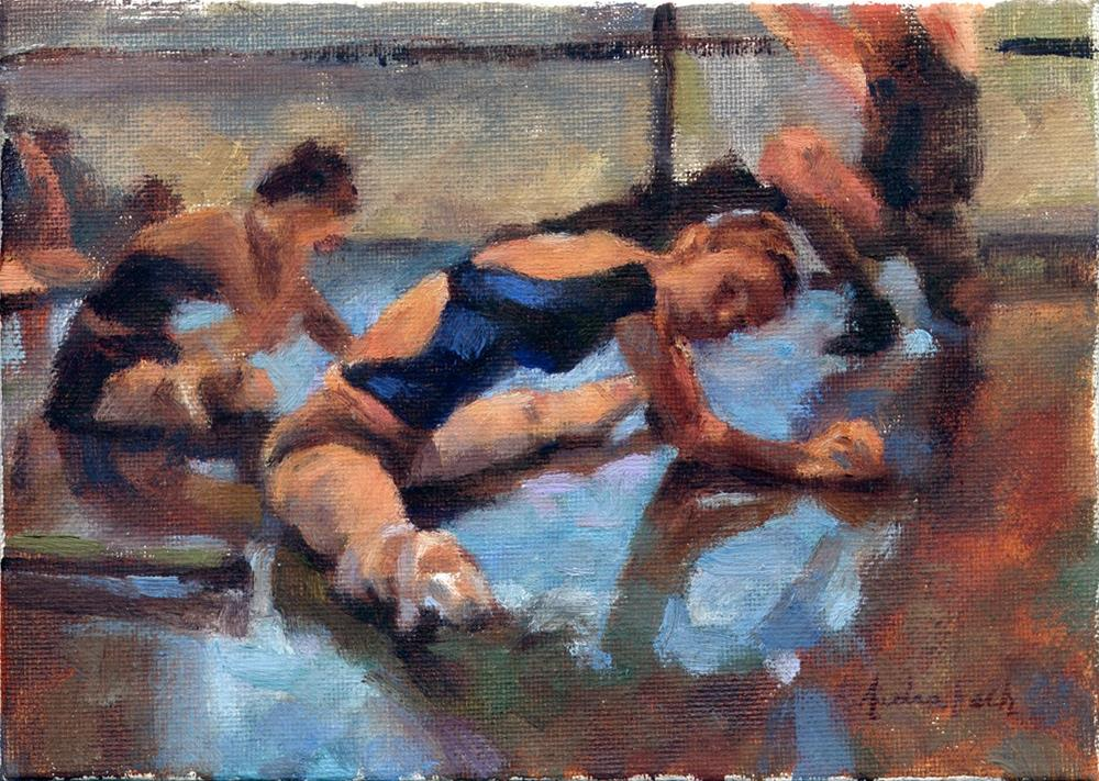 """Los Angeles Ballet: Stretch"" original fine art by Audra Esch"