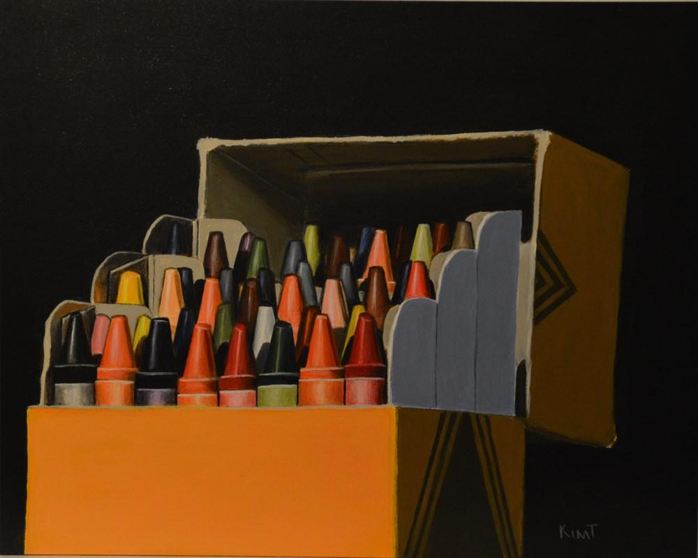 """Crayon Box Study"" original fine art by Kim Testone"