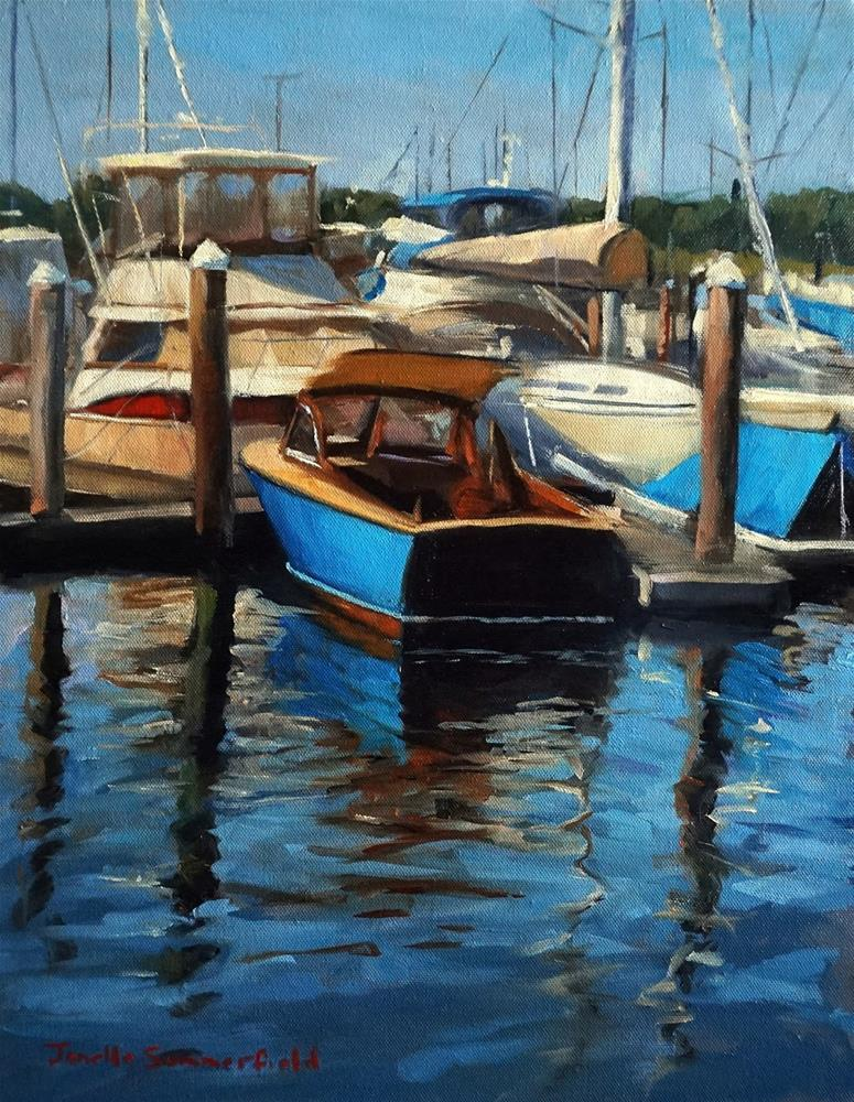 """Newport Harbor"" original fine art by Jonelle Summerfield"