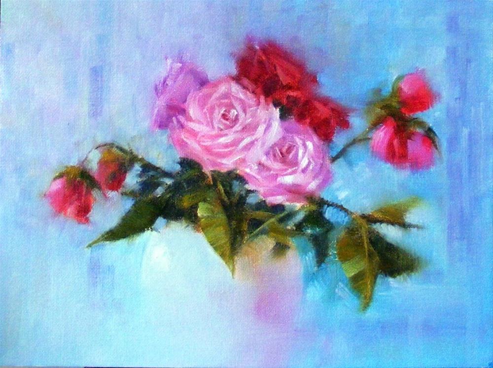 """Rosescape I"" original fine art by Celine K.  Yong"