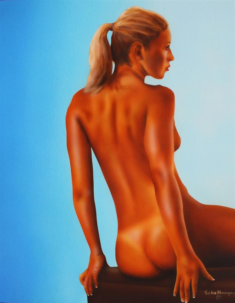 """Nude Study With Blues"" original fine art by Fred Schollmeyer"