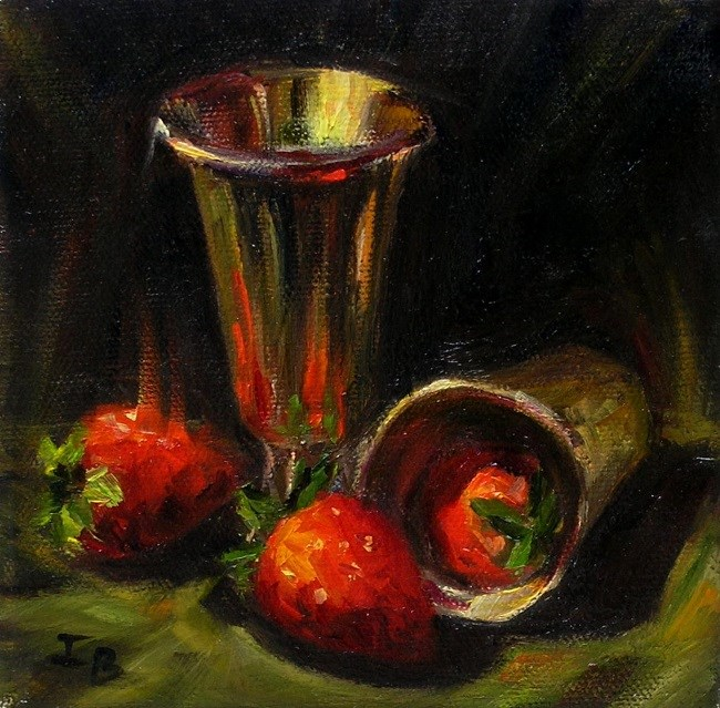 """Just Strawberries"" original fine art by Irina Beskina"