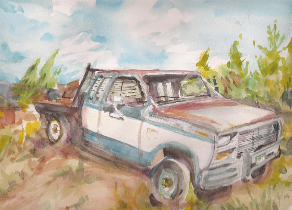 """F250"" original fine art by Jean Krueger"