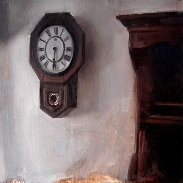 """Waterbury School Clock (no.51)"" original fine art by Michael William"