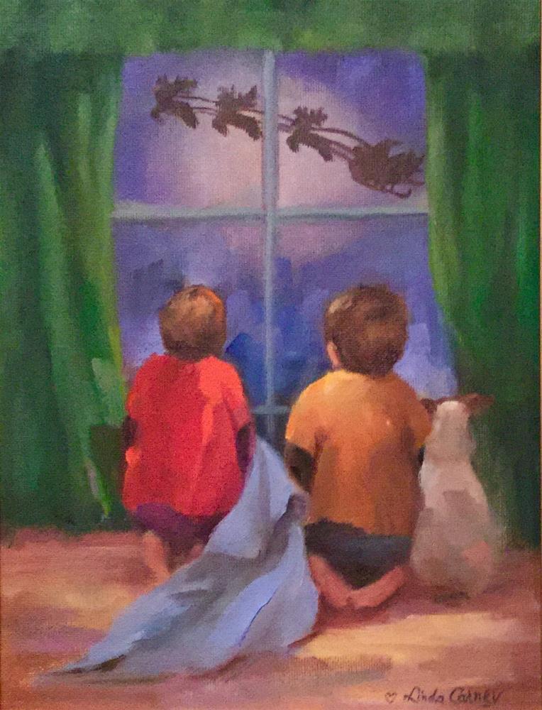 """""""Christmas Eve-A Magical Night"""" original fine art by Linda Carney"""