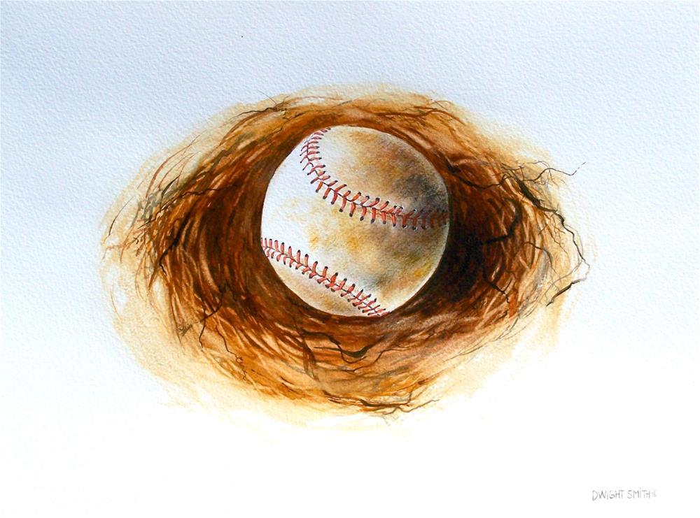 """ CURVE BALL "" original fine art by Dwight Smith"