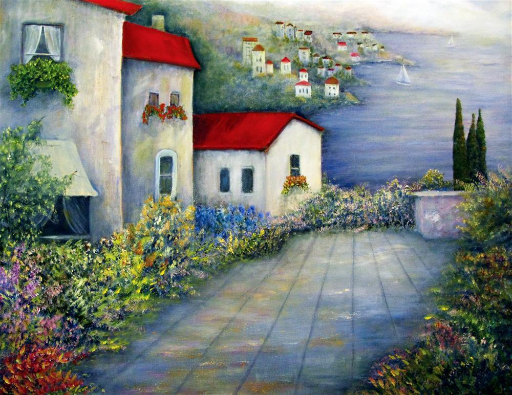 """""""Terrazza Sul Mare"""" original fine art by Loretta Luglio"""