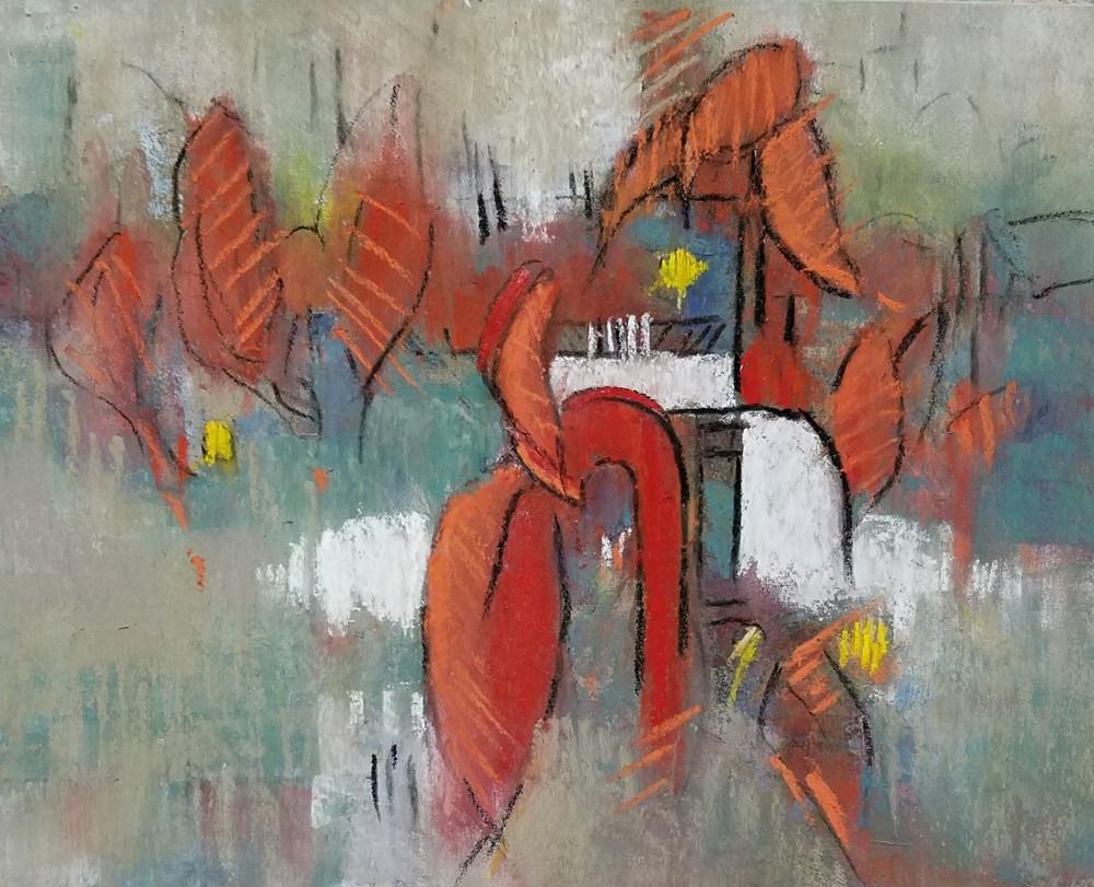 """Urbanites"" original fine art by Cindy Haase"