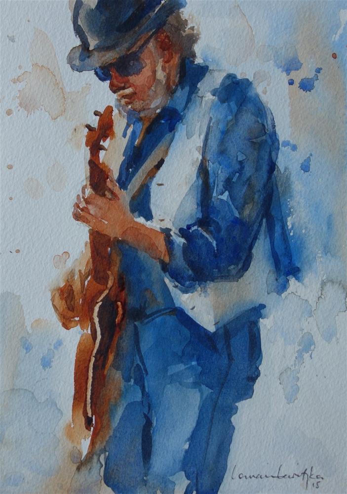 """Bass Man"" original fine art by Lorraine Lewitzka"