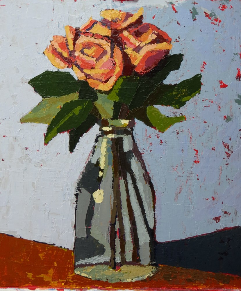 """Orange Roses"" original fine art by Joan Wiberg"