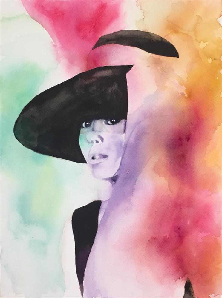"""""""Audrey"""" original fine art by Melissa Gresham"""