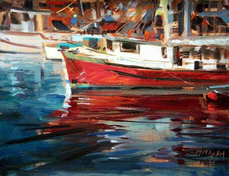 """Victoria Harbor"" original fine art by Mary Maxam"
