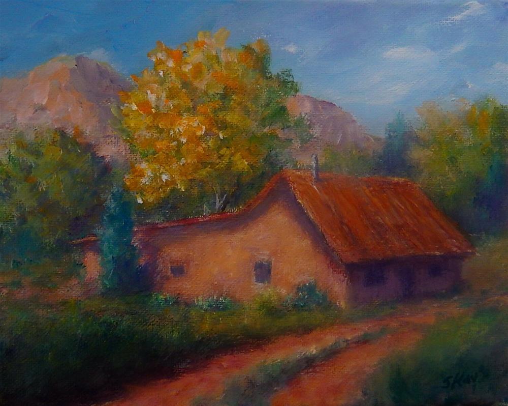 """New Mexico Gold"" original fine art by Sharon Kay Baker"