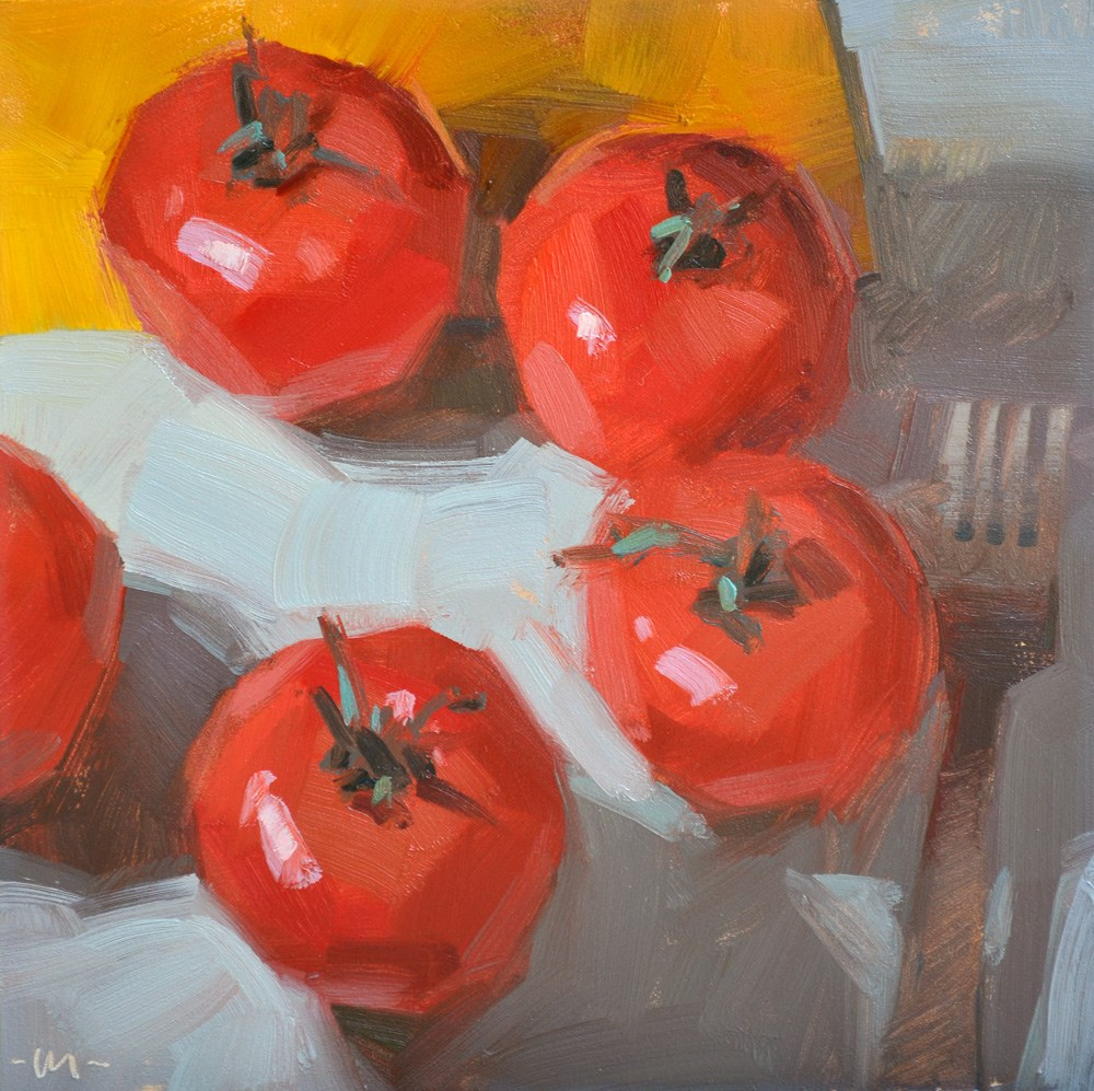 """Tomato Reunion"" original fine art by Carol Marine"