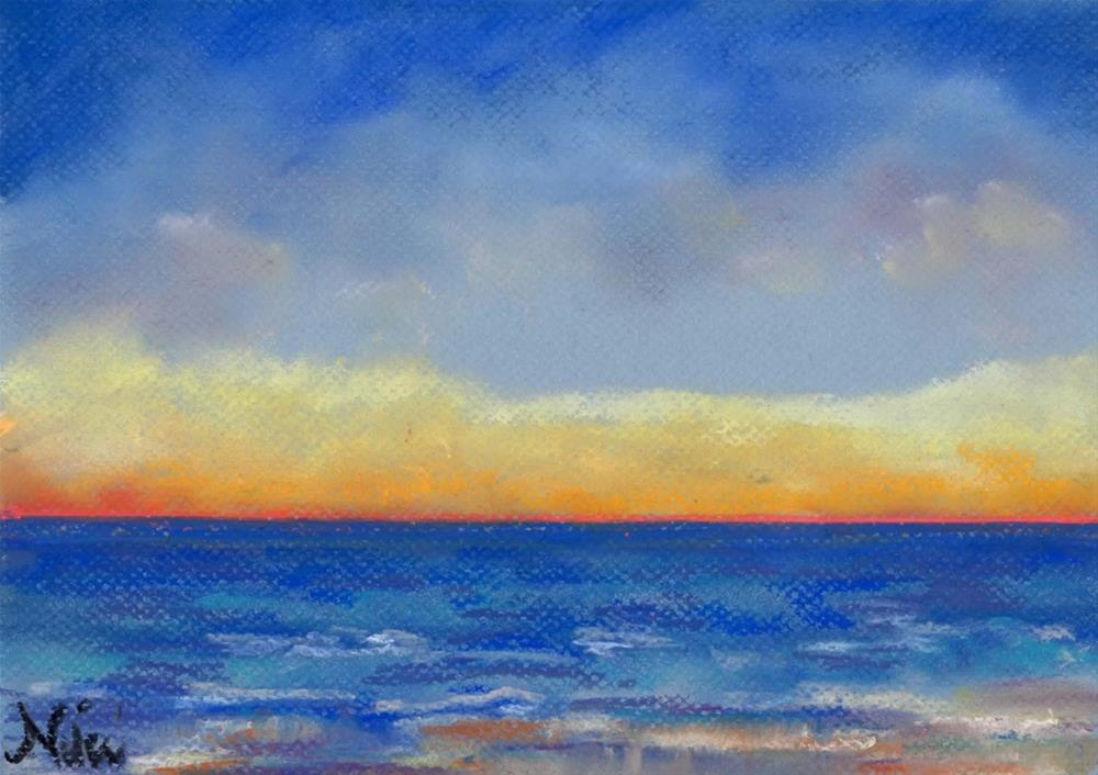 """Carlsbad Sunset West"" original fine art by Niki Hilsabeck"