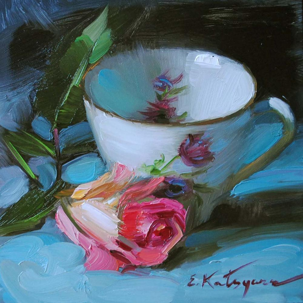 """Evening Rose"" original fine art by Elena Katsyura"