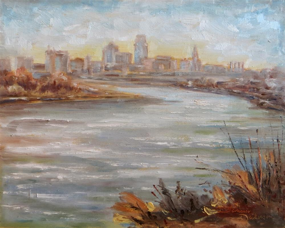 """Kansas City from Kaw Point"" original fine art by Tammie Dickerson"