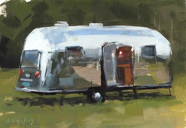 """Airstream - Quickstudy"" original fine art by David Lloyd"