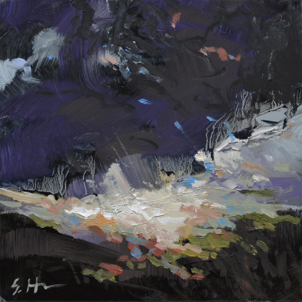 """Purple Storm"" original fine art by Susan Hughes"