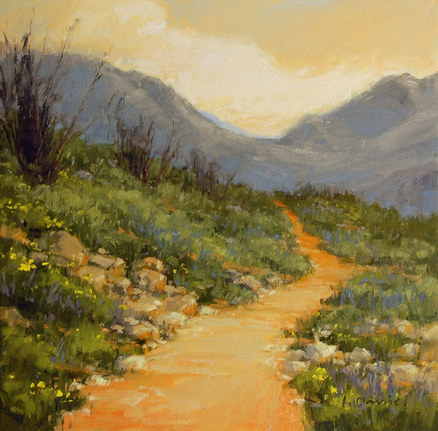 """Desert Trail"" original fine art by Laurel Daniel"