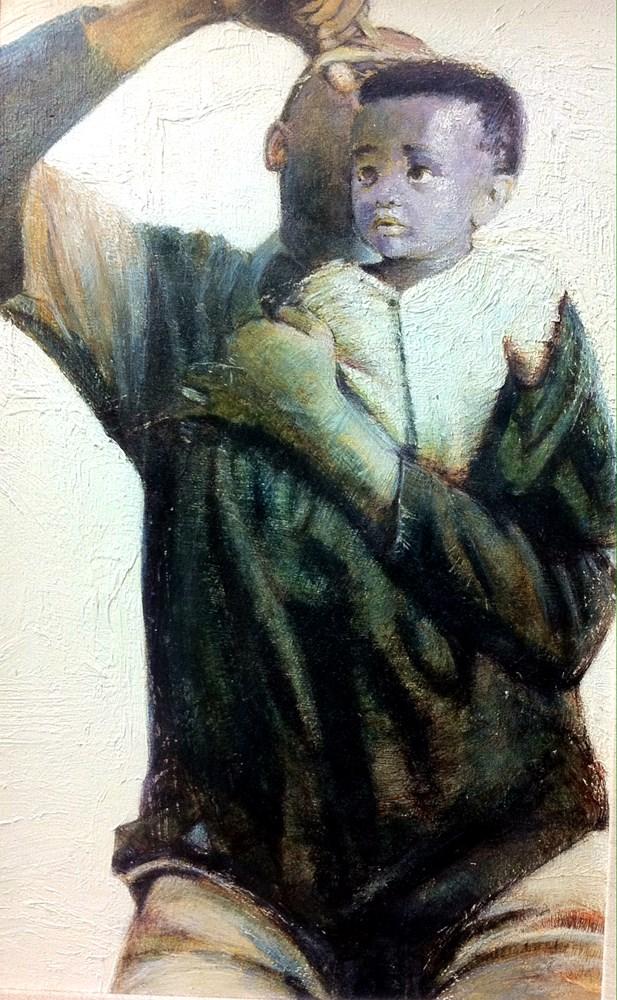 """Kids, Life, Art & Stuff 12"" original fine art by Adebanji Alade"