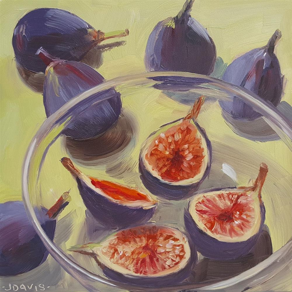 """Last Days of Summer Figs"" original fine art by Jacqueline Davis"