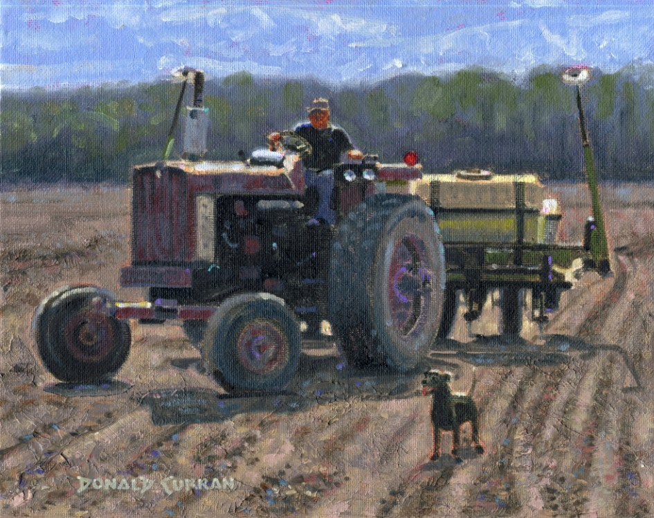"""Time to Work"" original fine art by Donald Curran"