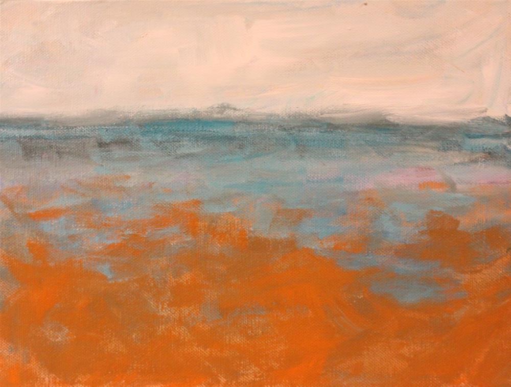 """Abstract Seascape"" original fine art by Christine Parker"
