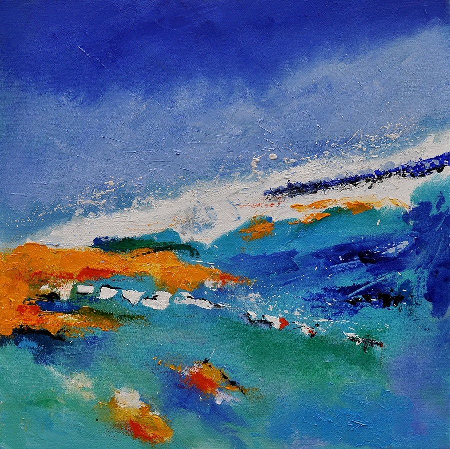 """abstract seascape 88"" original fine art by Pol Ledent"
