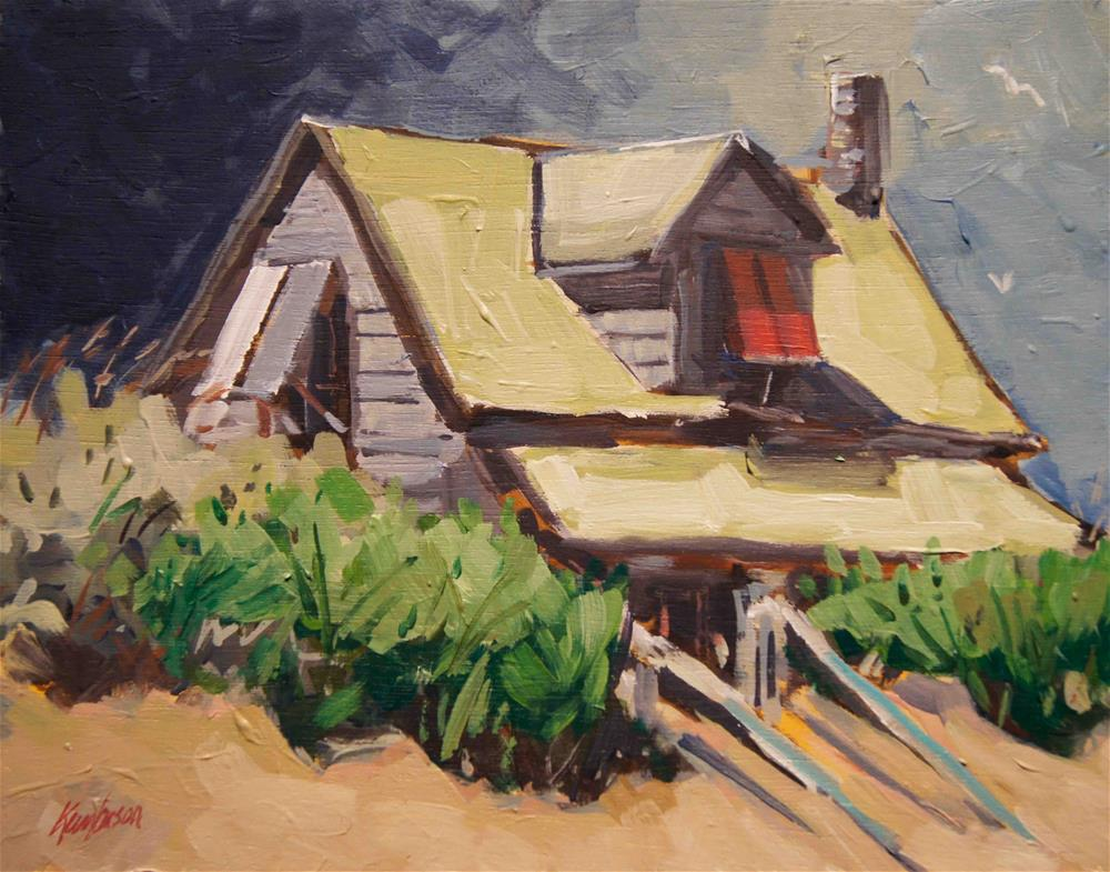 """Beach Cottage 15"" original fine art by Kevin Larson"