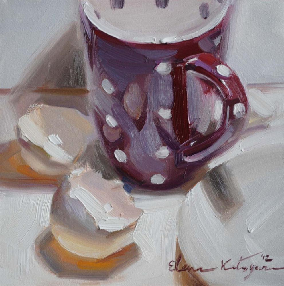 """Making Eggnog"" original fine art by Elena Katsyura"