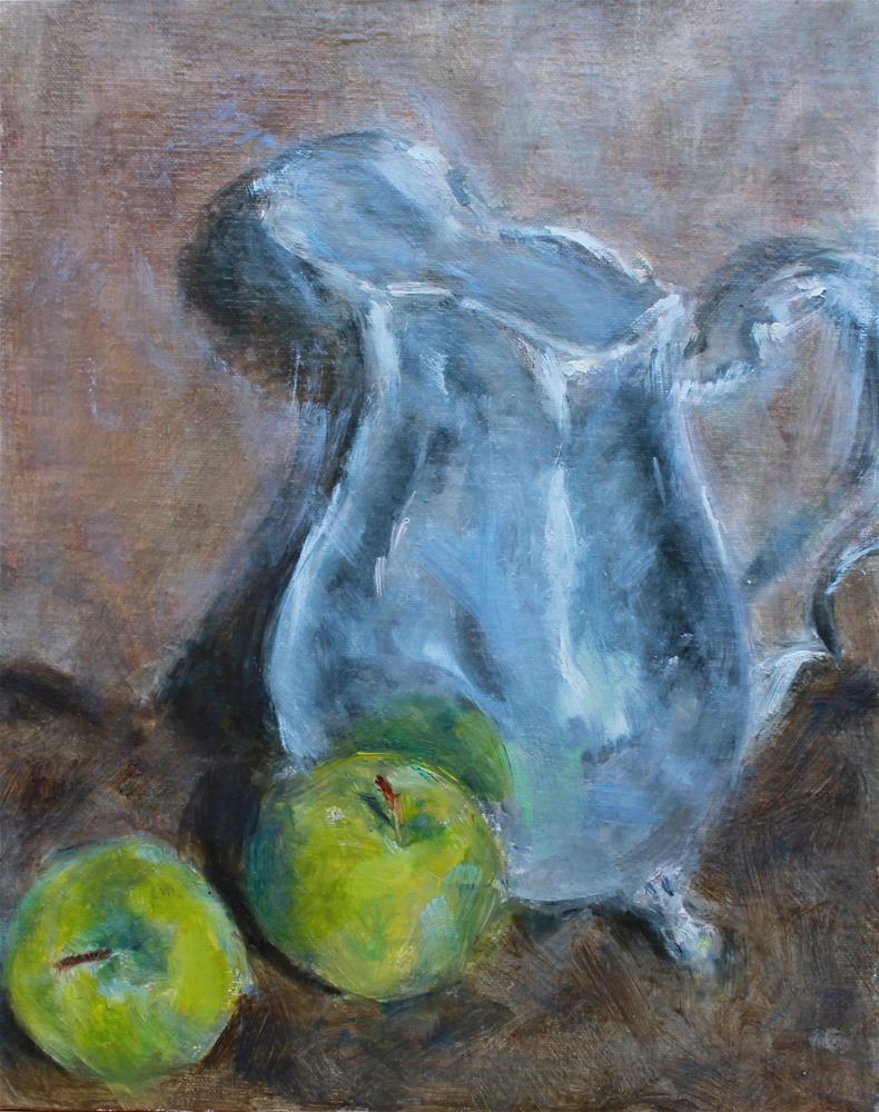 """Silver Pitcher"" original fine art by Karen Solorzano"