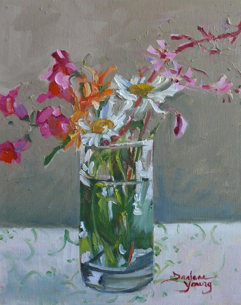 """""""843 More Sidewalk Beauties, oil on board, 8x10"""" original fine art by Darlene Young"""