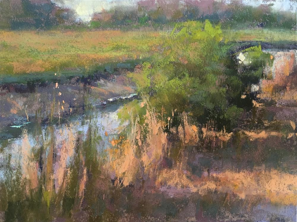 """Late Evening Marsh"" original fine art by Jacob Aguiar"