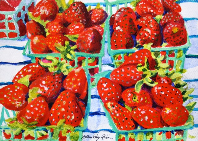 """Strawberry Shortcake"" original fine art by JoAnne Perez Robinson"